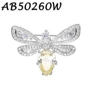 Bee Classic CZ Brooch - AB50260W