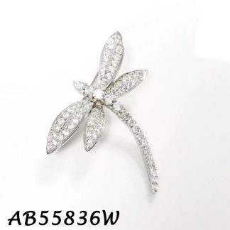 Dragonfly Pave CZ Brooch - AB55836W