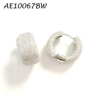 Huggie Pave CZ Earring - Medium