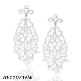Chandelier Swirl Pave CZ Earring