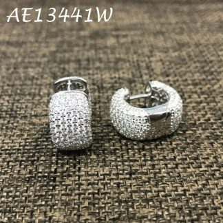 Huggie Pave CZ Earring - Small