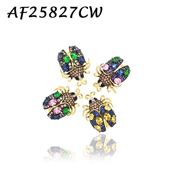 Gem Beetle CZ Charm