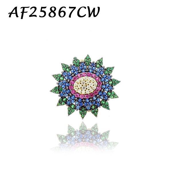 Hippy Flower CZ Charm