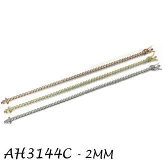 Bezel 2mm CZ Tennis Bracelet - AH3144C