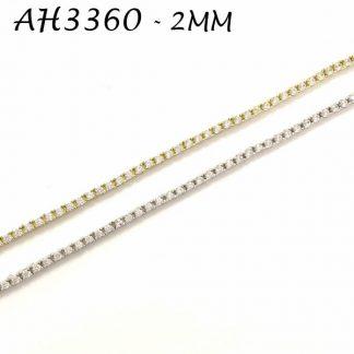 4 Prongs 2mm CZ Tennis Bracelet - AH3360