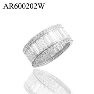 Channel Set Baguette CZ Eternity Ring - AR600202W