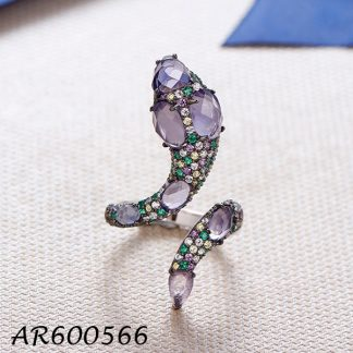 Multicolor CZ Snake Ring - AR600566