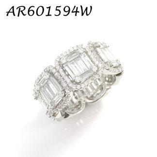 Baguette Square CZ Eternity Ring - AR60159W