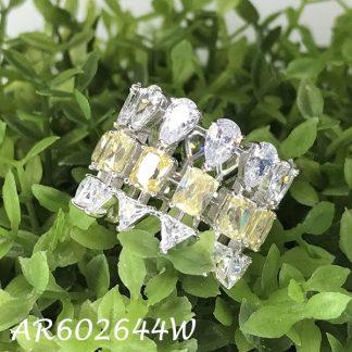 Triple Row Multi-Cut CZ Eternity Ring - AR602644W
