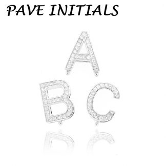 Pave CZ Initial Letters Charms  from A - Z