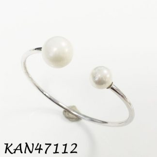 14mm and 10mm Pearl Cuff Bangle - KAN47112