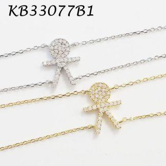 1 Boy Pave CZ Bracelet - KB33077B1