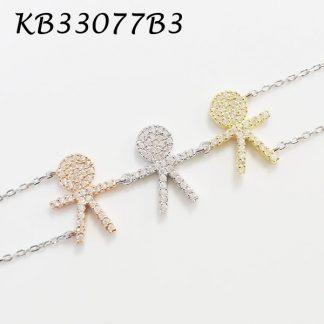 3 Boys Pave CZ Bracelet - KB33077B3