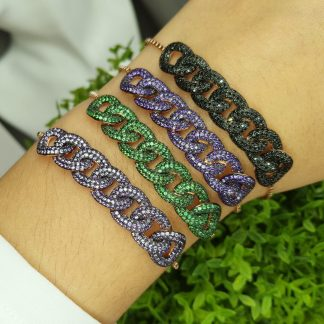 KB33094S9 DARK PURPLE-BRACELET MIN.$100 -20% 6PCS-30% 12PCS-40%