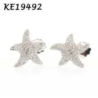 Starfish Pave CZ Earring - KE19492