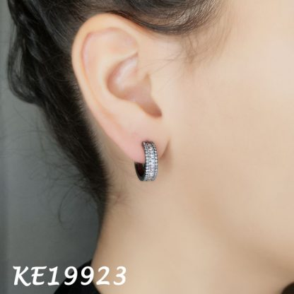 Small Baguette Huggie CZ Earring-KE19923
