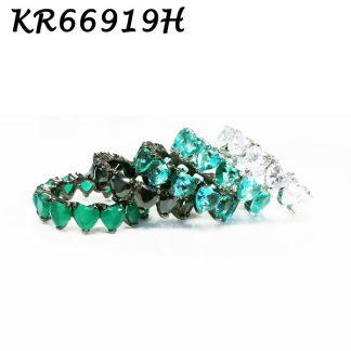 Heart Cut CZ Eternity Ring - KR66919H