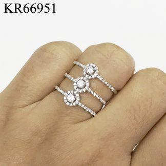 3 Circles Pave CZ Ring - KR66951
